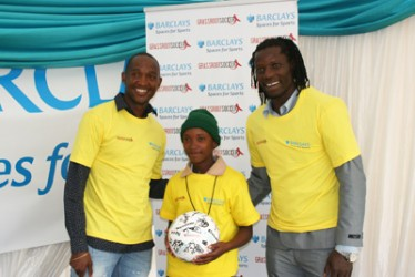Vusa Nyoni, GRS participant, and Benjani Mwaruwari