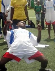 Grassroot Soccer limbo activity