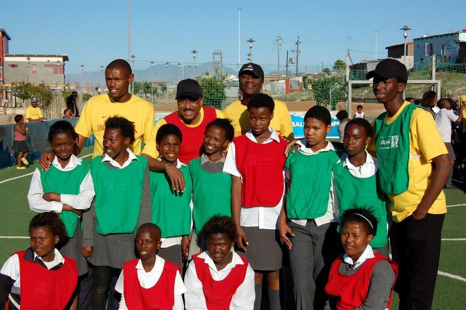 Michel Sidibe visits Grassroot Soccer